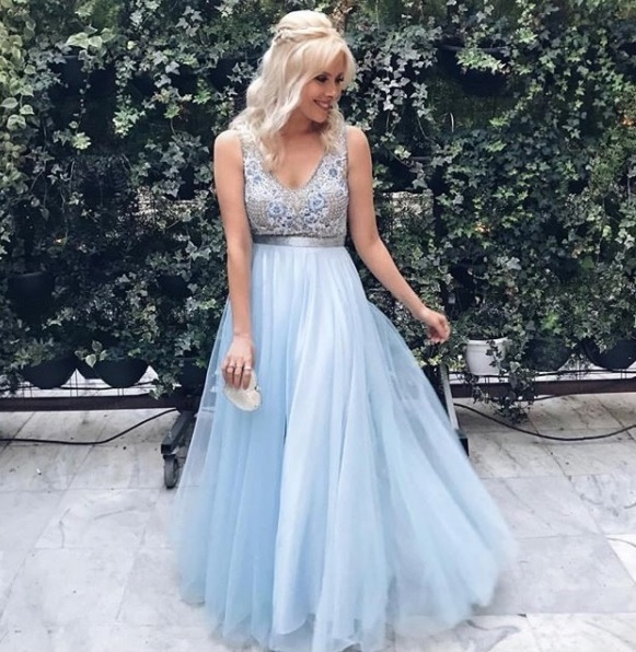 Long Prom Dress,Tulle Prom Gown BD2198