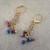 Handmade Om Spiritual Charm with Deep Blue Jade Ovals Necklace and Earrings,