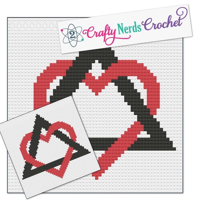 Adoption Love Pattern Graph With Single Crochet Written