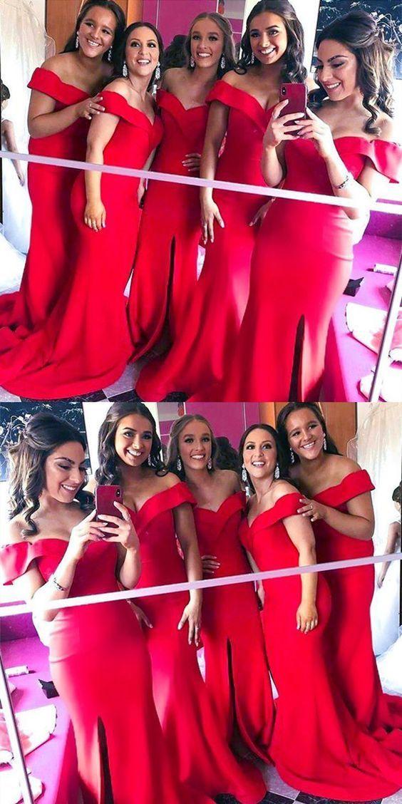 red bridesmaid dresses,mermaid bridesmaid dresses,cheap bridesmaid