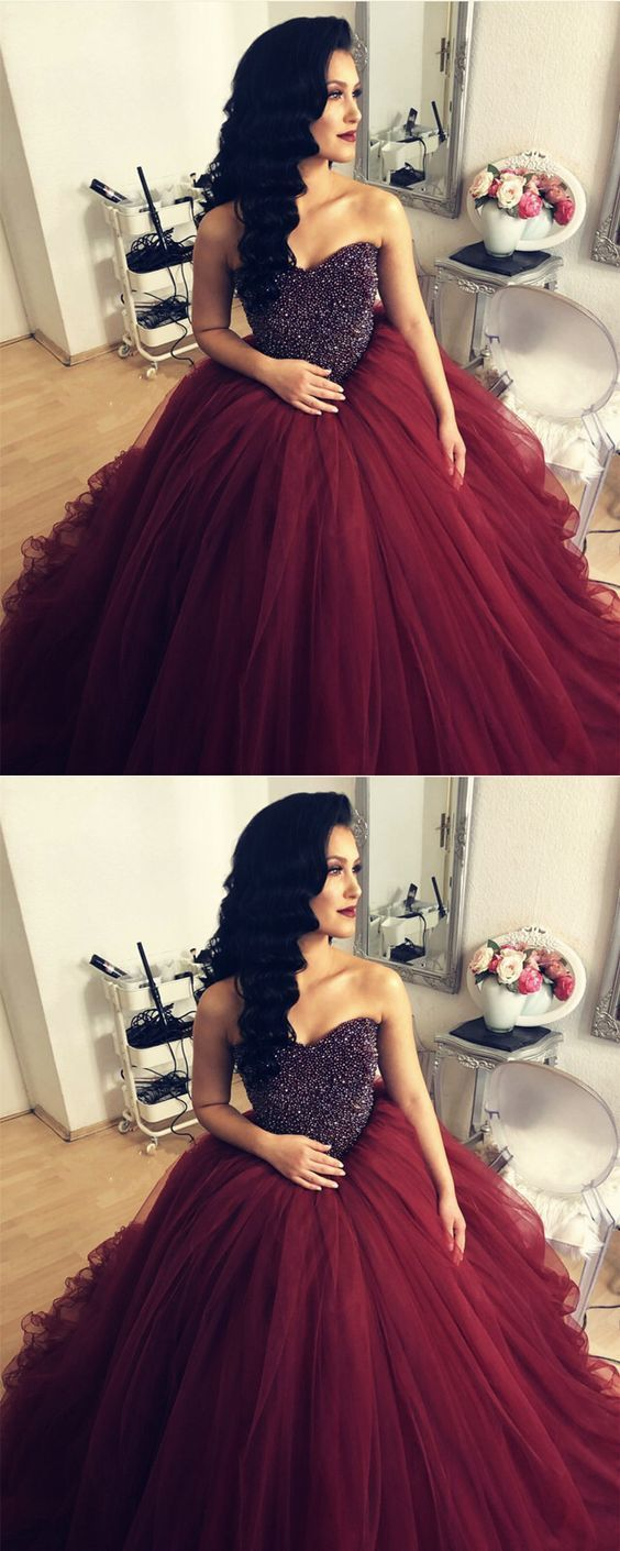 e7d8899bb39 maroon wedding dresses ball gowns for bride by MeetBeauty on Zibbet
