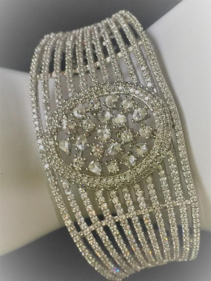 Silver Bar Cubic Zirconia Bracelet