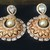 The Antique Gold  Pearl Cubic Zirconia Earrings
