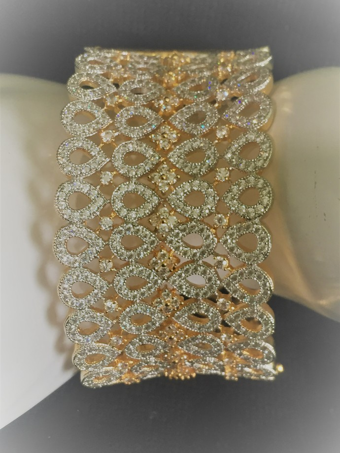 The Cuff Cubic Zirconia Bracelet