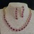 Pink and White Cubic Zirconia Necklace and Earring Set