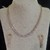 The White Cubic Zirconia Necklace and Earring Set
