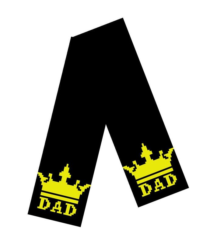 Scarf - Dad Crown - Black & Gold