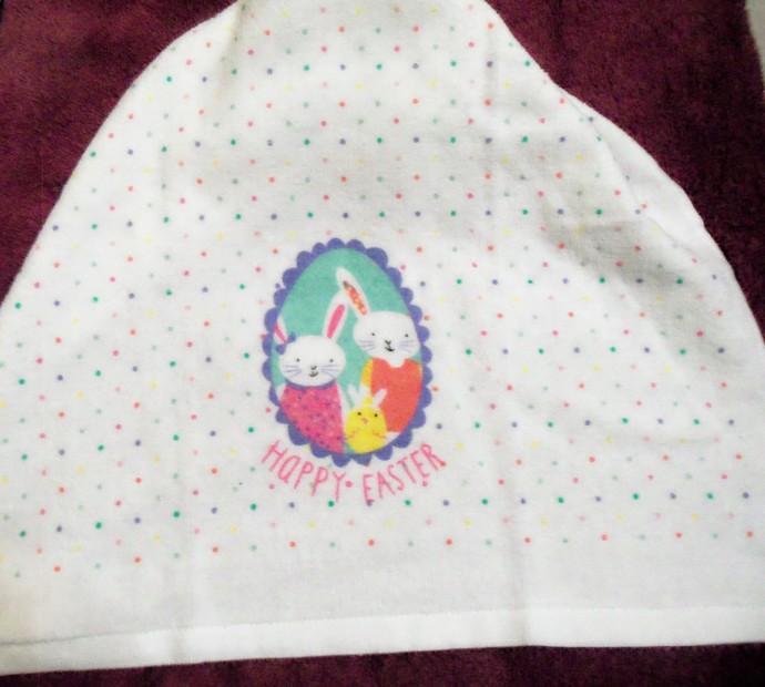 Happy Easter Design Kitchen Hanging Towels Crochet Hanger (2)