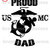 Proud USMC DaD Printable Iron On Transfer/Printable at Home/Diy