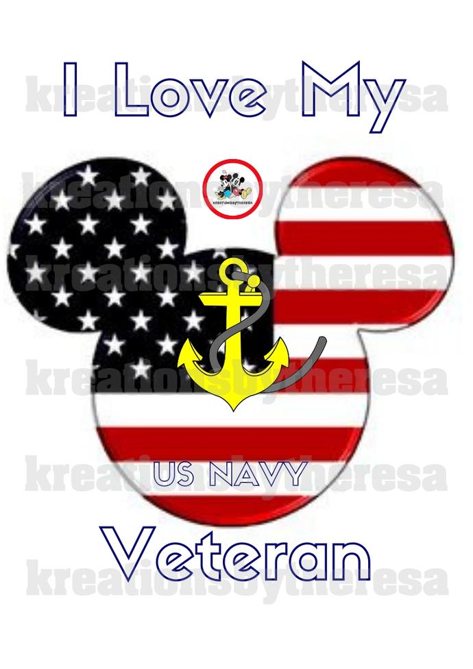 United States Navy I love My Veteran Printable Iron On Transfer/Printable at