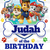 Paw Patrol Friends Birthday Boy Iron On Transfer/Printable at Home/Diy