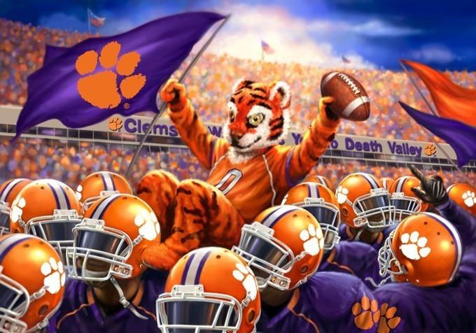 CLemson Tigers Stadium Cross Stitch Pattern***LOOK***X***INSTANT DOWNLOAD***