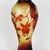 Large Vintage Emile Galle style Cameo Glass Vase with Art Nouveau Floral Decor