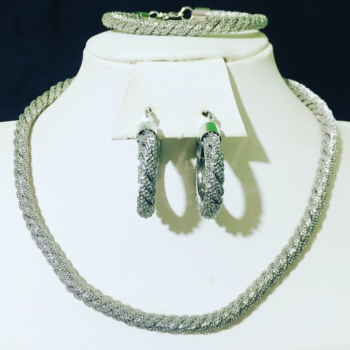 The Rope Necklace, Earring and Bracelet set