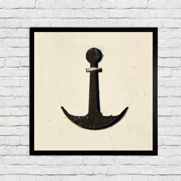 Nautical Boat Anchor Art Print - Coastal Wall Decor - Sailboat Anchor Artwork -