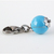 Blue Swarovski Pearl Charm, Stainless Steel, Pet Accessories, Zipper Pull