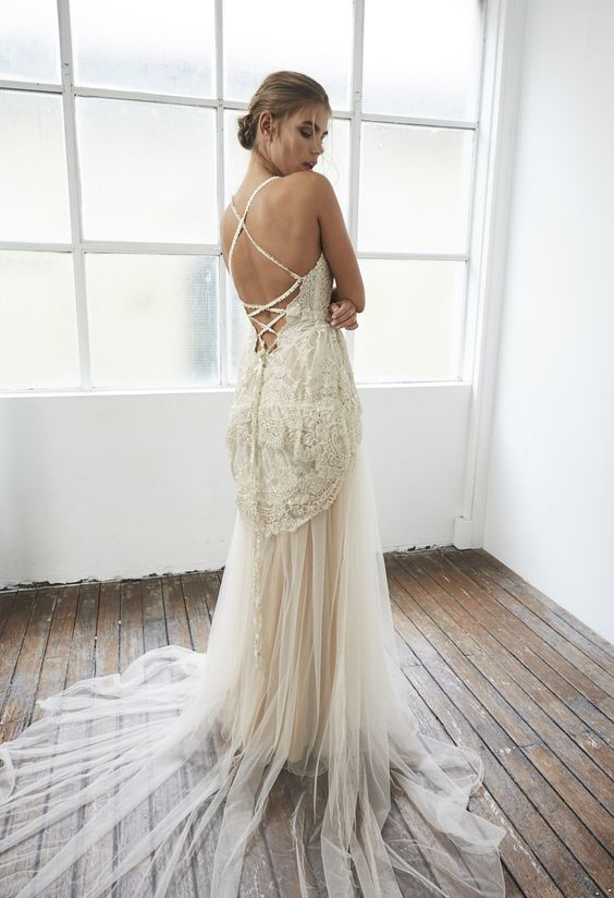 Bohemian wedding dress beach wedding dresses