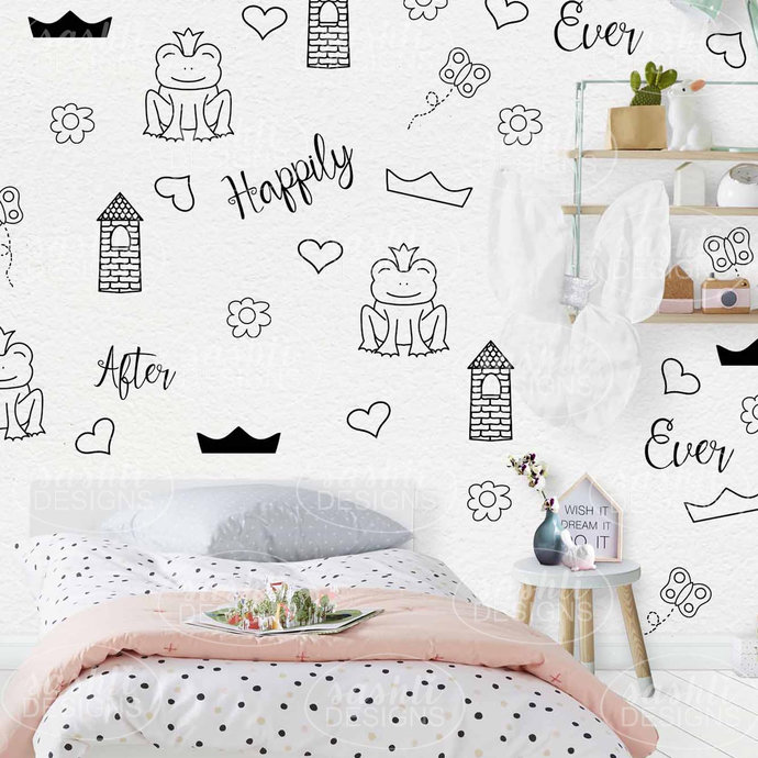 PRINCESS Removable Wall Art Decals