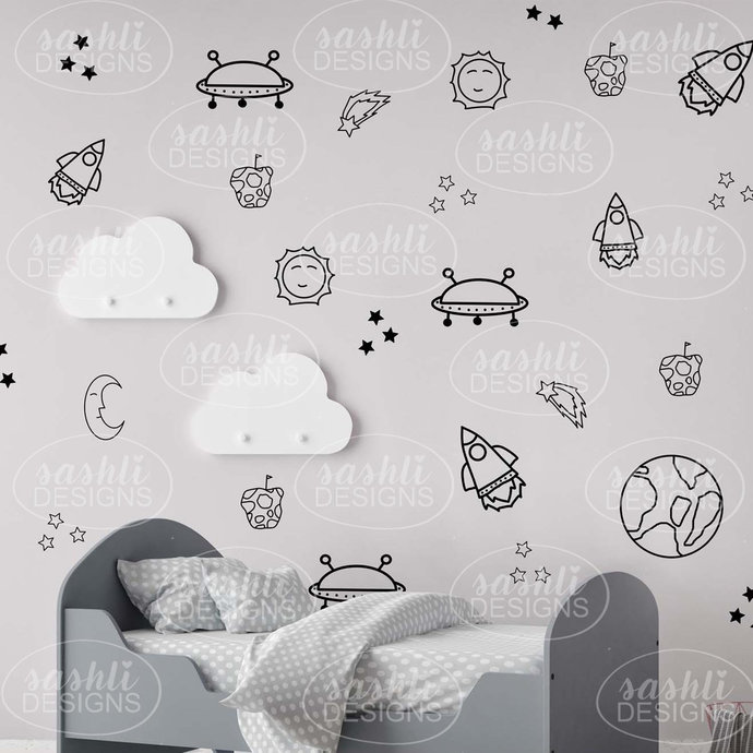 SPACE Removable Wall Art Decals