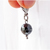 Hematite Bead Charm, Crystals, Healing, Pet Accessories, Zipper Pull, Clip on