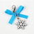 Blue Ribbon Snowflake Charm, Clip On, Collar Charms, Cat Jewelry, Cat Accessory