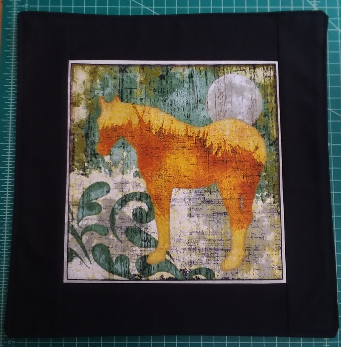 horse with full moon place mat