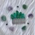 Handmade Green Crystal Quartz wire wrapped hair comb