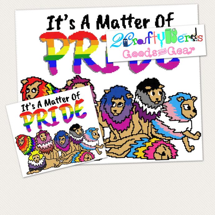 Lion Pride LGBTQ Pattern Graph with Single Crochet SC Written