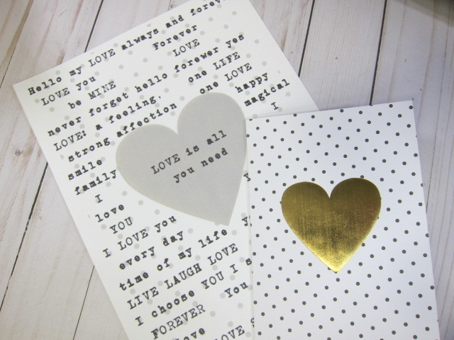 Love in Words Phrase Printable Message Digital Collage Valentine's Day