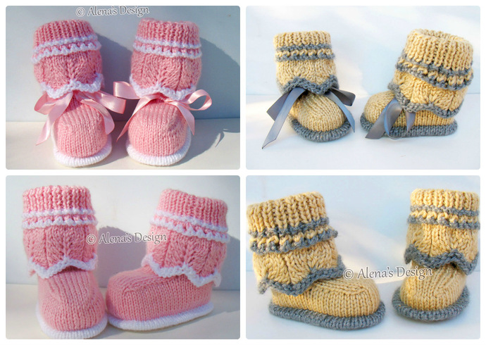 Knitting Pattern 185 Knitting Booties Pattern Knitting Patterns High-Top Baby