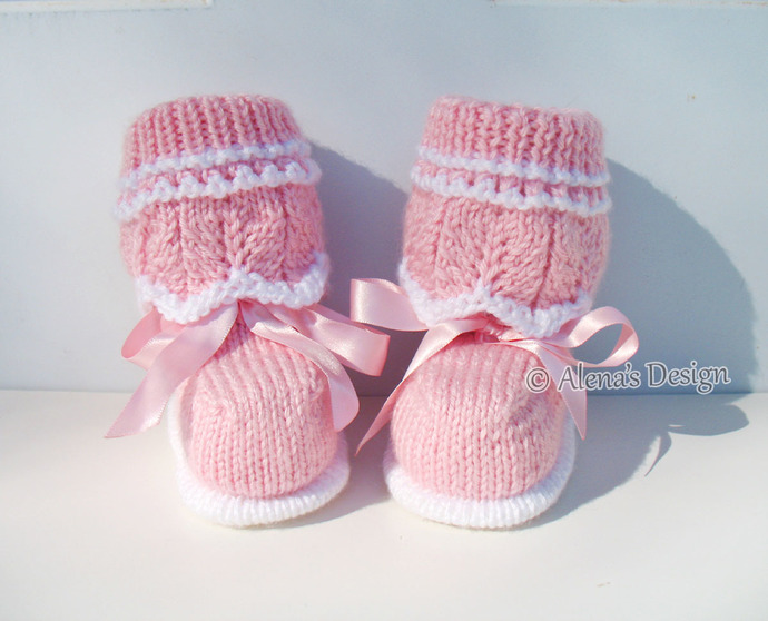 Alex Baby Booties Knitting Pattern 185 High-Top Baby Booties Knitting Patterns