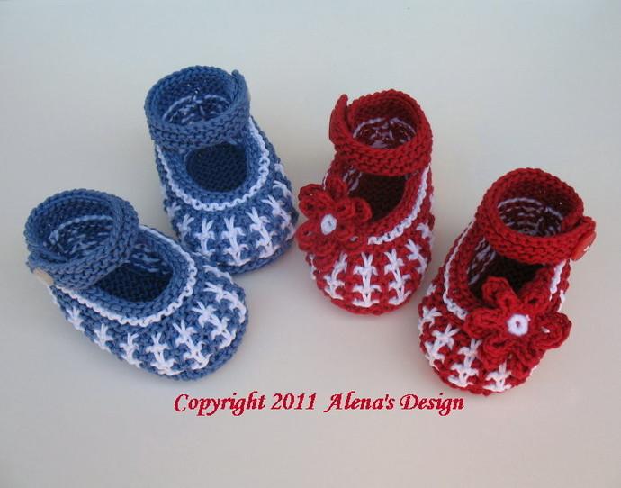 Knitting Booties Pattern 032 Knit Baby Shoes Booties Knitting Pattern Newborn