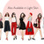 Watercolor fashion illustration clipart - Girls in Black, White & Red - Dark