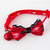 Heartbreaker Red Cat Bow Tie Collar with Bell Charm, Adjustable, Valentines Day,