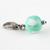 Mint Green Heart Bead Charm, Pet Accessories, Handbag Charms, Photo Props