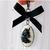 Black and White Unicorn Charm, Gothic Lolita, Pet Jewelry, Handbag Charms, Pet