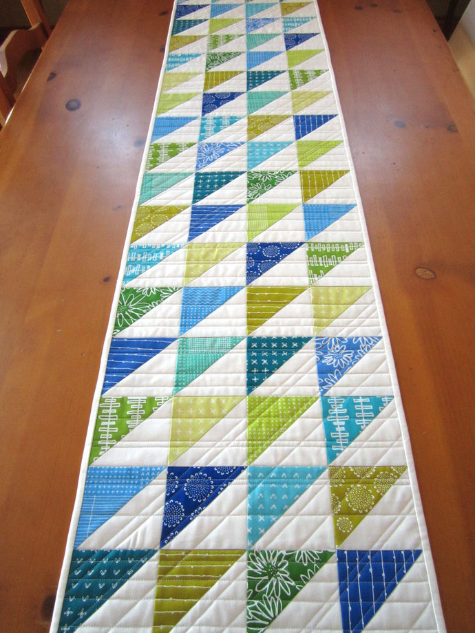 Quilted Table Runner Modern Handmade Runner Handmade Gifts Runner Home Decor