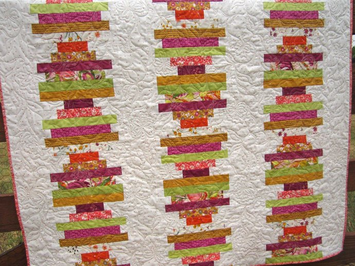 Modern Homemade Quilt Patchwork Strips Quilt Handmade Quilt Modern Throw Home