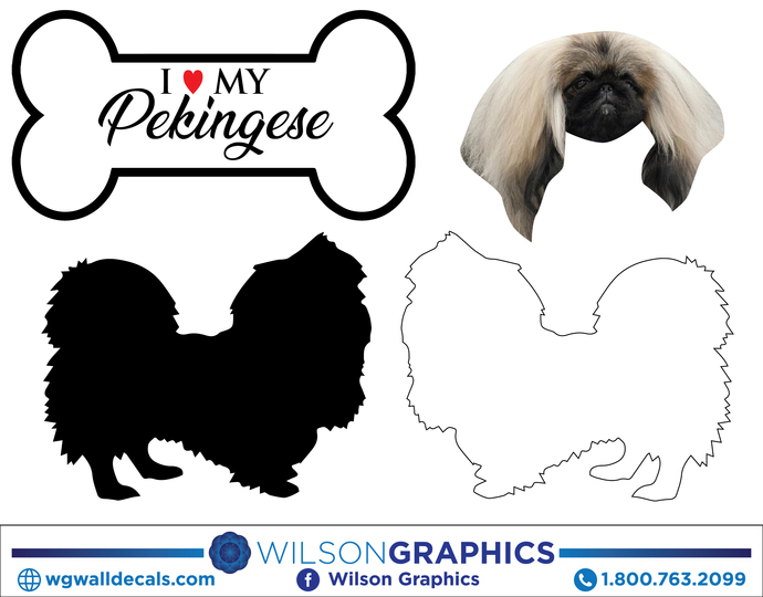 Pekingese - Dog Breed Decals (Set of 16) - Sizes in Description
