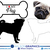 Pug - Dog Breed Decals (Set of 16) - Sizes in Description