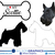 Scottie - Dog Breed Decals (Set of 16) - Sizes in Description