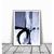 Abstract Landscape Painting, light blue beige violet Print, Minimalist Painting,