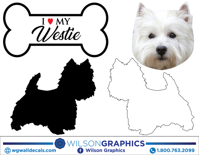 Funny Dog Bone WESTIE on Board Vinyl Car Decal Sticker Pet Lover