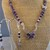 Purple Cubic Zirconia Butterfly and Dyed Grape Howlite with Crystal Handmade