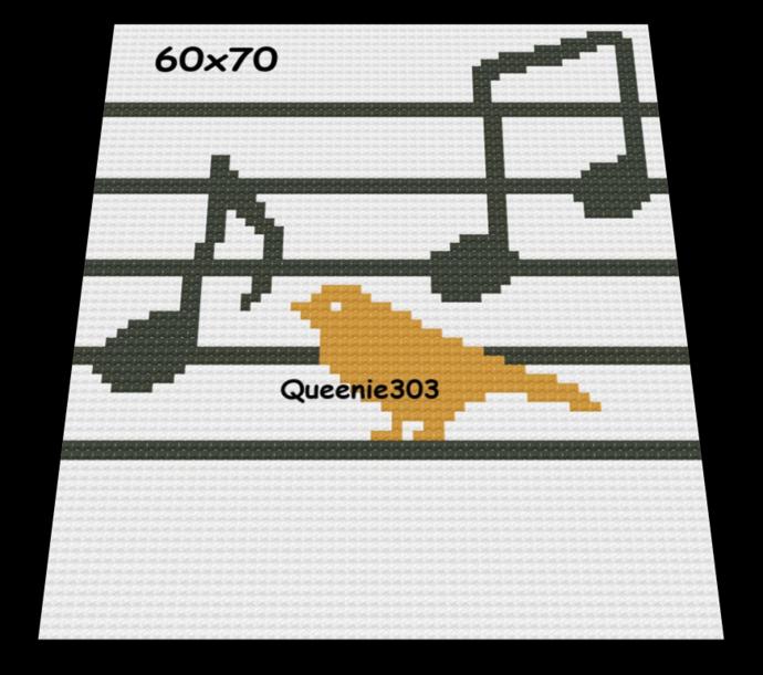Musical Bird 10 60x70