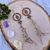 Boho Macrame Earrings with Lotus flower and Hamsa Hand Charms