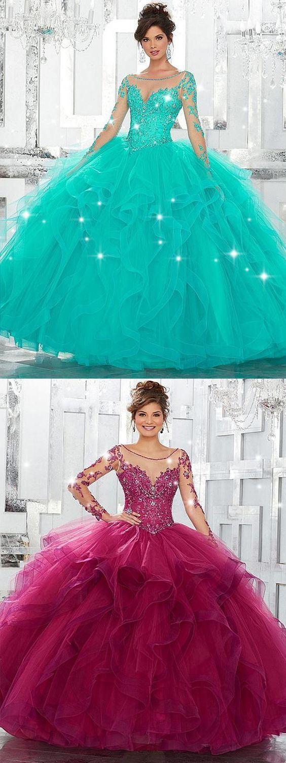 Glamorous Tulle Bateau Neckline Ball Gown Quinceanera Dresses With Lace