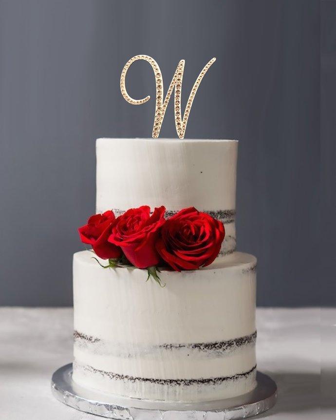 Swarovski Crystal Cake Topper