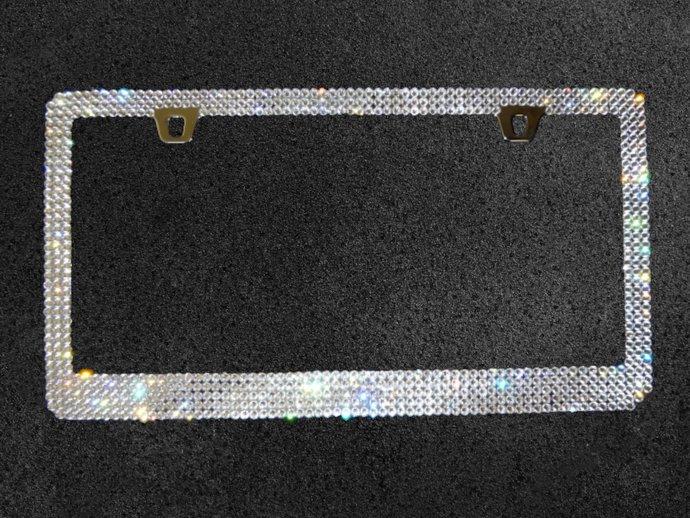 Crystal License Plate Frame made with Swarovski Crystals, Car Swag, Bling Car