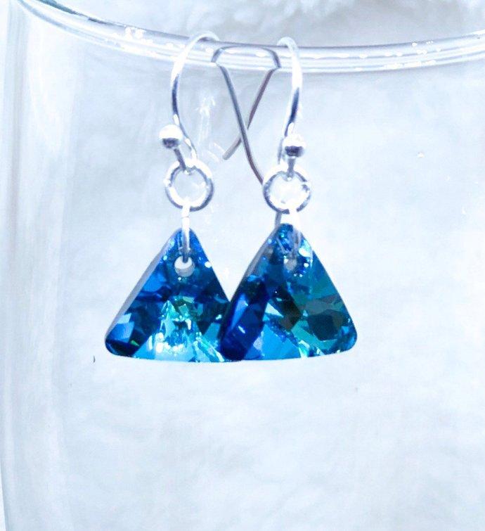 Geometric Swarovski Pendant Earrings